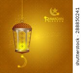 lantern on islamic typical... | Shutterstock .eps vector #288850241