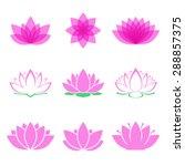 lotus flower set. lotus symbol...