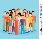 flat illustration of society...   Shutterstock .eps vector #288859625