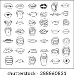 mouths collection in different... | Shutterstock .eps vector #288860831