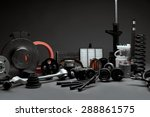 new car parts on a gray... | Shutterstock . vector #288861575