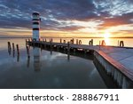 Lighthouse At Lake Neusiedl At...