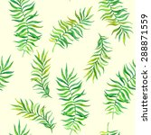 palm leaves. seamless pattern | Shutterstock .eps vector #288871559