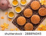 Mooncake And Tea Food And Drin...