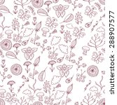 ornate floral seamless texture  ... | Shutterstock .eps vector #288907577
