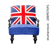 vintage chair with the union... | Shutterstock . vector #288907691