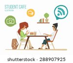 student youth street urban cafe ... | Shutterstock .eps vector #288907925
