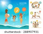 family summer vacation... | Shutterstock .eps vector #288907931