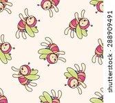 bee cartoon   cartoon seamless... | Shutterstock . vector #288909491