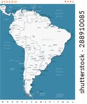 south america   map and... | Shutterstock .eps vector #288910085