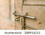 Sliding Lock With Wood Door