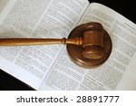 Judges Gavel Sitting On An Ope...