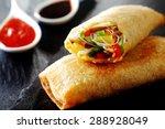 crispy golden fried vegetable...   Shutterstock . vector #288928049