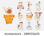 slow life quality life | Shutterstock .eps vector #288933635