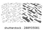 logs. wood. forest. hand drawn... | Shutterstock .eps vector #288935081