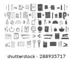 set of stationery. big hand... | Shutterstock .eps vector #288935717