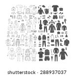 big hand drawn collection of... | Shutterstock .eps vector #288937037