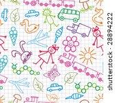 children's drawings. vector... | Shutterstock .eps vector #28894222