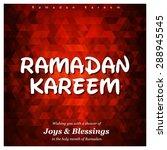ramazan kareem  ramadan kareem  ... | Shutterstock .eps vector #288945545