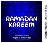 ramazan kareem  ramadan kareem  ...   Shutterstock .eps vector #288945551
