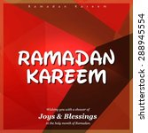 ramazan kareem  ramadan kareem  ... | Shutterstock .eps vector #288945554