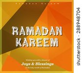 ramazan kareem  ramadan kareem  ... | Shutterstock .eps vector #288948704