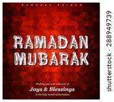 ramazan kareem  ramadan kareem  ... | Shutterstock .eps vector #288949739