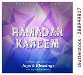 ramazan kareem  ramadan kareem  ... | Shutterstock .eps vector #288949817