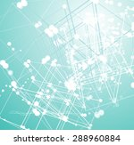 multi dimension space  abstract ... | Shutterstock . vector #288960884