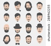 set of hipster avatars for... | Shutterstock .eps vector #288962255