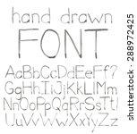 handwritten font. vector... | Shutterstock .eps vector #288972425