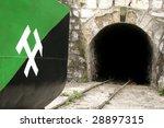 Mine Shaft Entrance And Wagon...