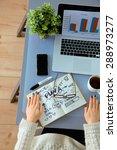 businessman  devices  digital... | Shutterstock . vector #288973277