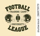 football sport typography ... | Shutterstock .eps vector #288979979