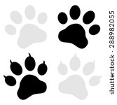 paw print symbol | Shutterstock .eps vector #288982055