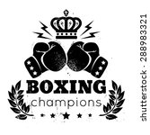 vintage logo for a boxing with... | Shutterstock .eps vector #288983321