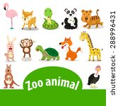 illustrator of zoo animals  | Shutterstock .eps vector #288996431