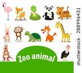 illustrator of zoo animals  | Shutterstock .eps vector #288996431