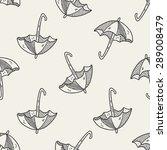 umbrella doodle drawing...   Shutterstock .eps vector #289008479