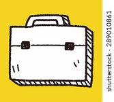 briefcase doodle | Shutterstock .eps vector #289010861