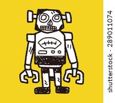 robot doodle   Shutterstock .eps vector #289011074