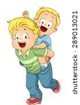 illustration of an older... | Shutterstock .eps vector #289013021