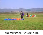 two parachutes landed on the... | Shutterstock . vector #28901548