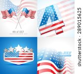 vector set of american... | Shutterstock .eps vector #289015625