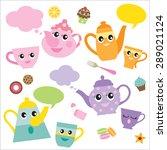 vector illustration of talking... | Shutterstock .eps vector #289021124