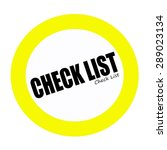 Check List Back Stamp Text On...