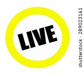 Live Back Stamp Text On White...