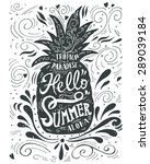 """print """"hello summer"""" with a...   Shutterstock .eps vector #289039184"""
