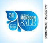 monsoon offer and sale banner ... | Shutterstock .eps vector #289039499