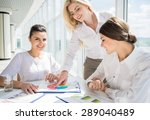 three confident office workers... | Shutterstock . vector #289040489